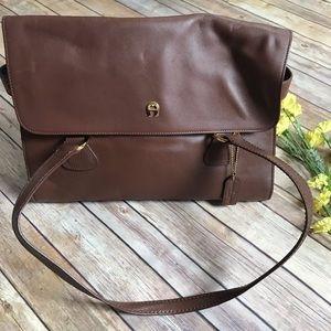 Etienne Aigner Brown Leather Satchel